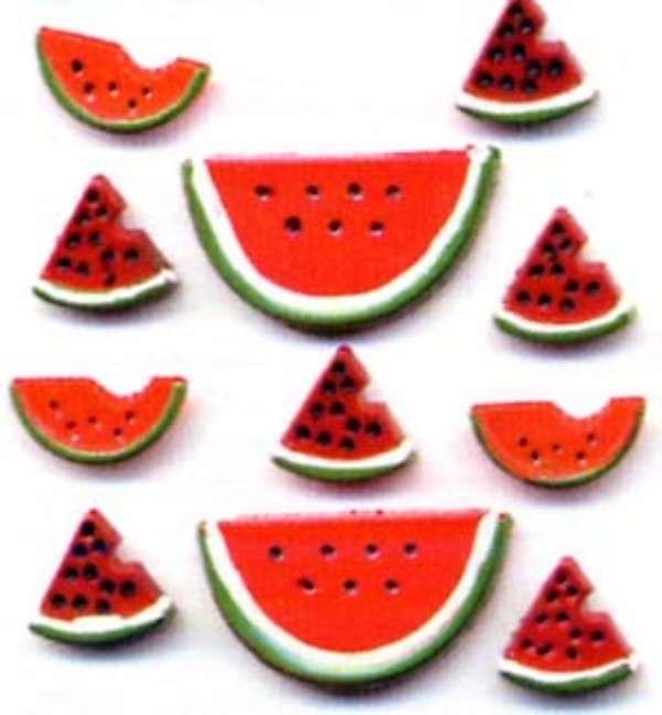 Watermelon Buttons Button Bag - Assorted Sizes