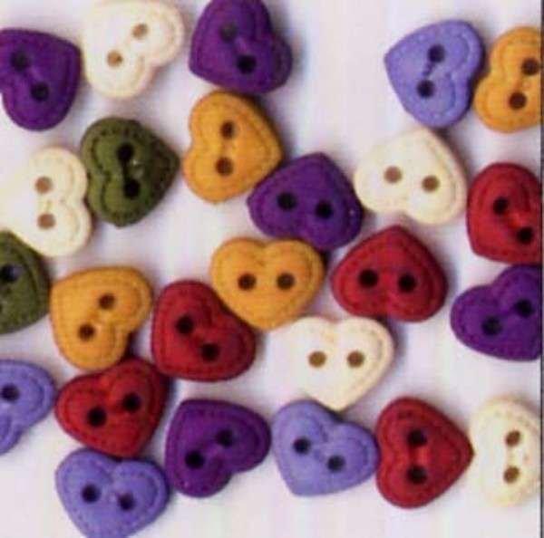 Quilt Heart Buttons