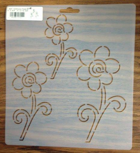 Stencil - Continuous Flowers