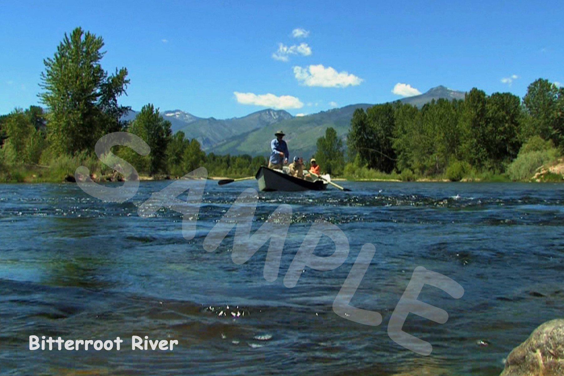 Bitterroot River (Boat) Fabric Block