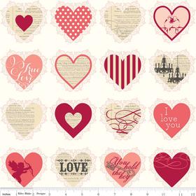 Riley Blake - Valentines Hearts Pink