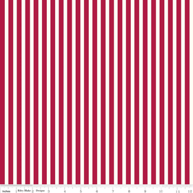 Riley Blake - Valentines Stripes Red