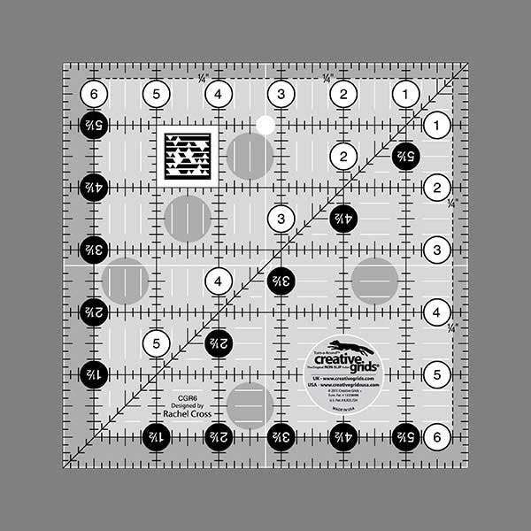 Creative Grids Quilting Ruler 6.5 Square