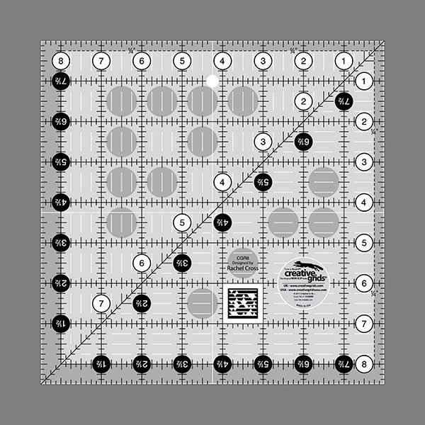Creative Grids Quilting Ruler 8.5 Square
