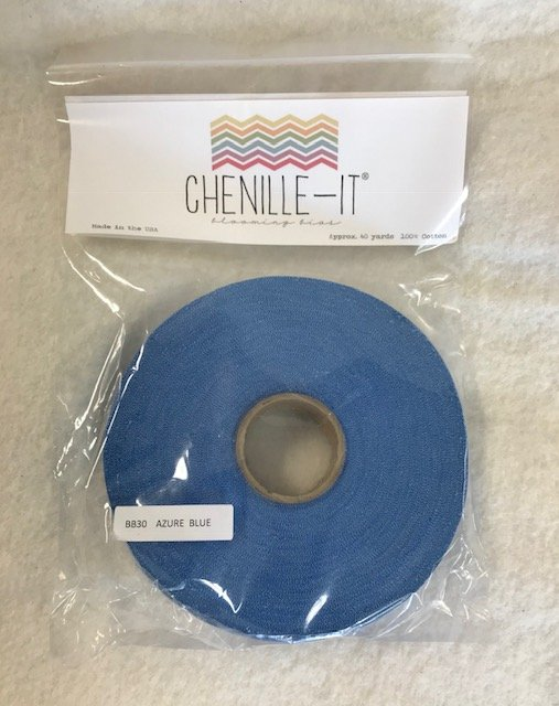 Chenille-It Blooming Bias 5/8 - Azure Blue