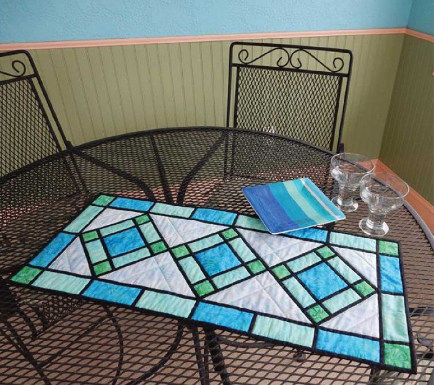 Stained Glass Table Runner Pattern