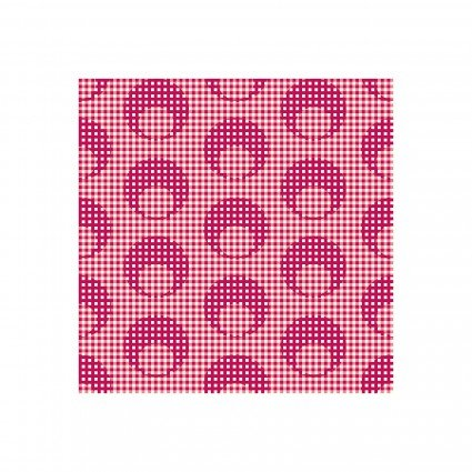 Clothworks - Raspberry & Cream Y2057-4 Light Red