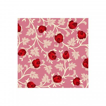 Clothworks - Raspberry & Cream Y2061-42 Pink