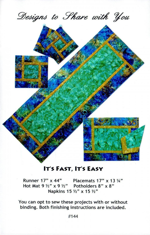 It's Fast, It's Easy Pattern