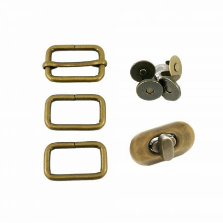 Butterfly Sling Hardware Kit - Antique Brass