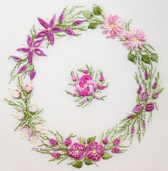 BE Spring Wreath Pattern