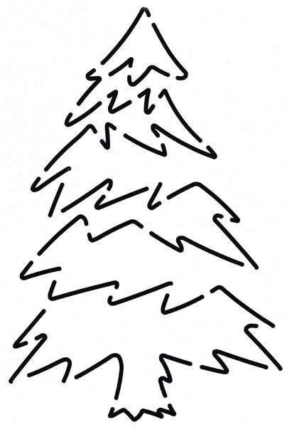 Stencil - Blue Spruce