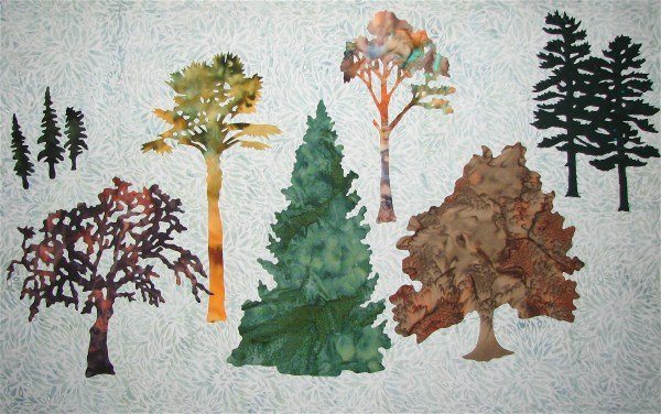 Designer Extras - Trees Pattern