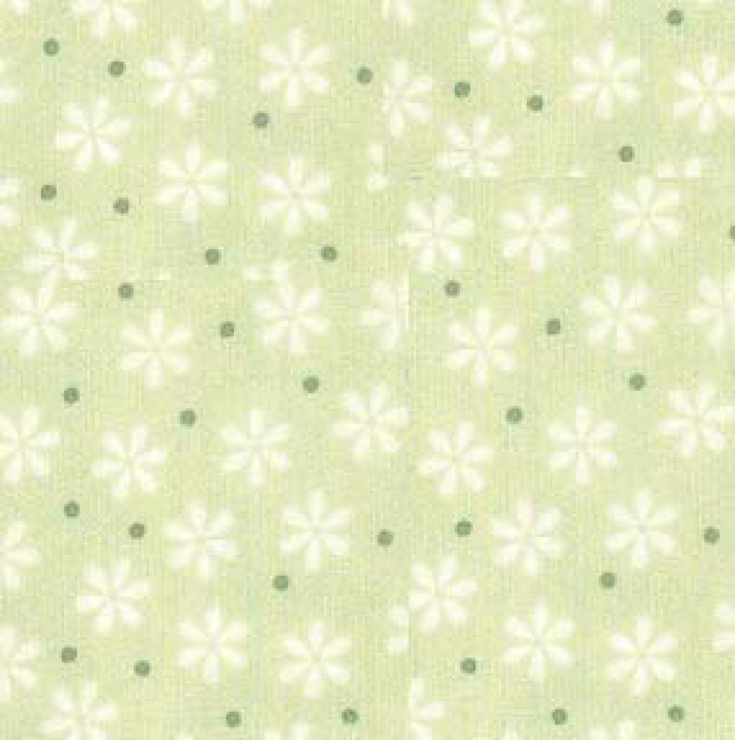RK - Cozy Cotton FIN-8978-41 Celery Flowers & Dots Flannel