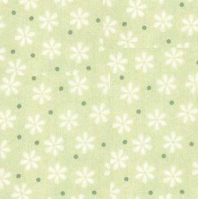 RK - Cozy Cotton FIN-8978-41 Celery Flowers & Dots Flannel