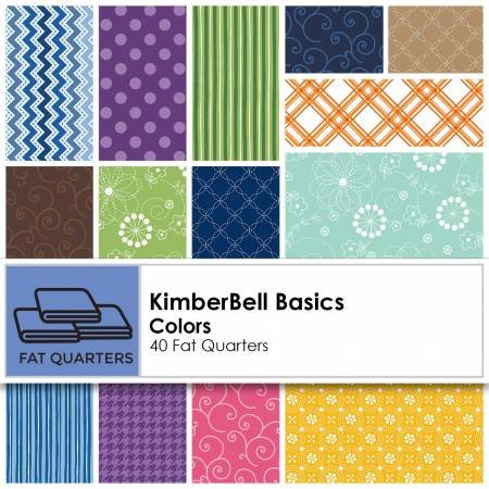 Fat Quarter Kimberbell Basics Colors 40pcs