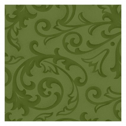 Henry Glass - Green Baroque 108in Quilt Back 9939-66