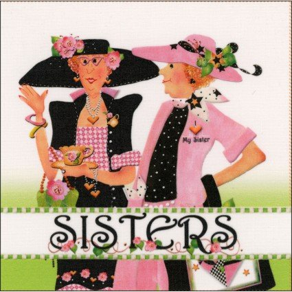 Two Sisters Fabric Panel (6x6)
