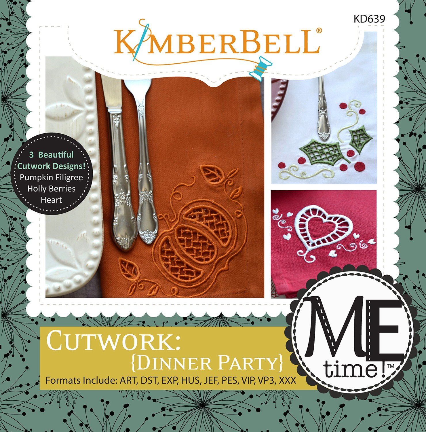 Cutwork Dinner Party (Machine Embroidery CD)