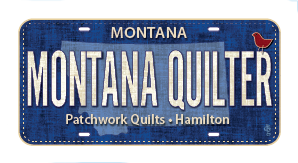 MONTANA QUILTER Fabric License Plate