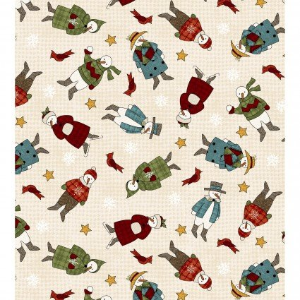 Maywood - Winter Folk Flannel MASF8332-E