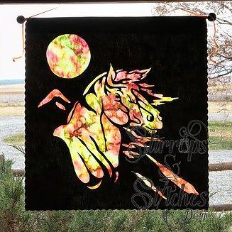 Mustang Silhouette Pattern