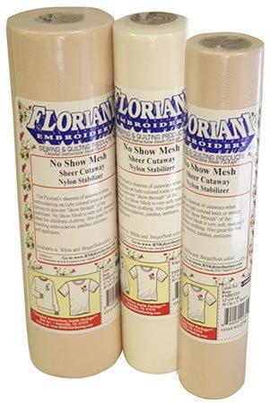 Floriani No Show Mesh Nylon Stabilizer - Beige (12x10yds)