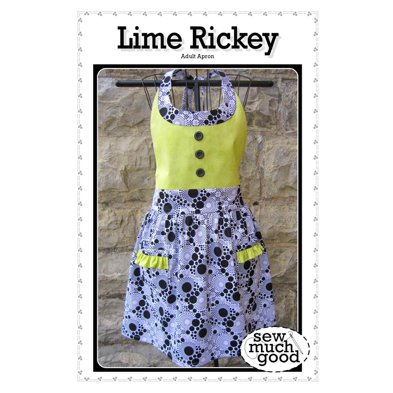 Lime Rickey Adult Apron Pattern