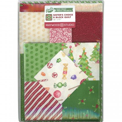 Gingerbread Christmas 6 Block Sister's Choice Quilt Pod