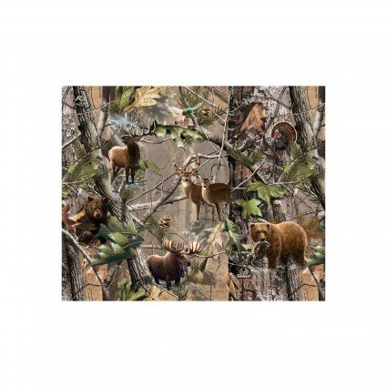 RealTree Flannel 10024 - Animals in the Forest