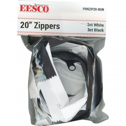 20 Zipper Black & White Assortment