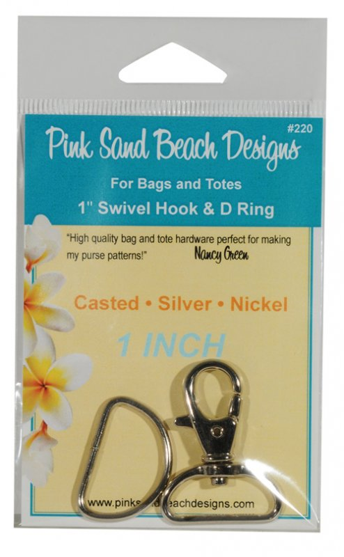 Swivel Hook and D Ring (Silver)