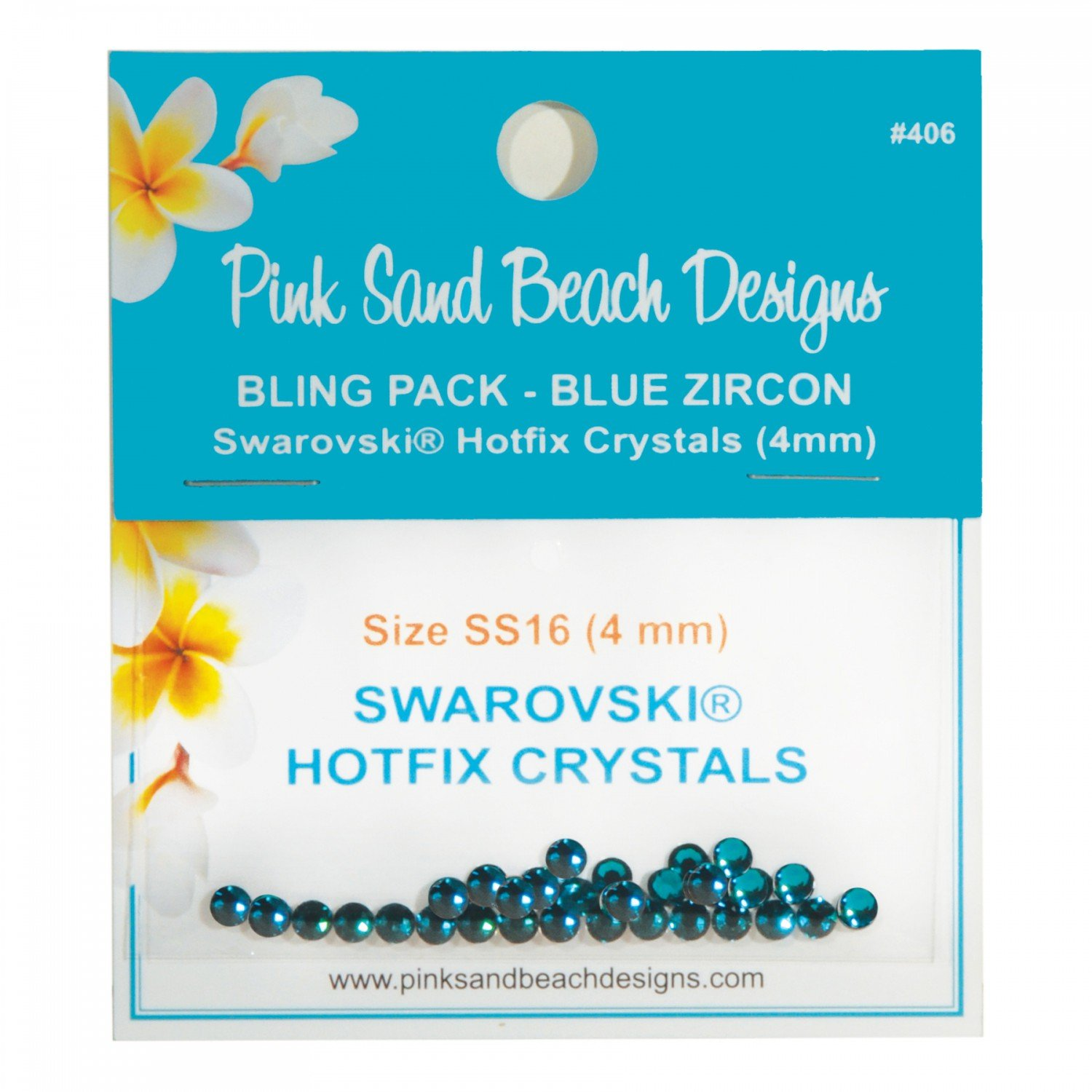 Bling Pack - Swarovski Hotfix Crystal 4mm - Blue Zircon