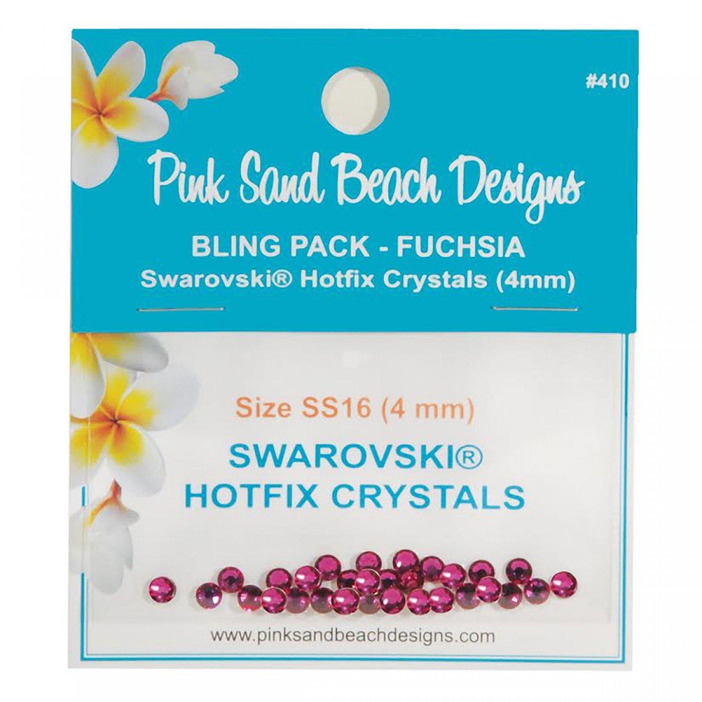 Bling Pack - Swarovski Hotfix Crystal 4mm - Fuchsia