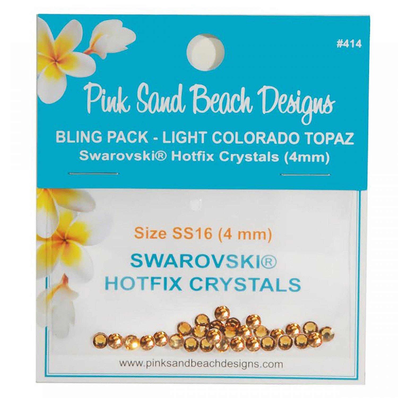 Bling Pack - Swarovski Hotfix Crystal 4mm - Light Colorado Topaz