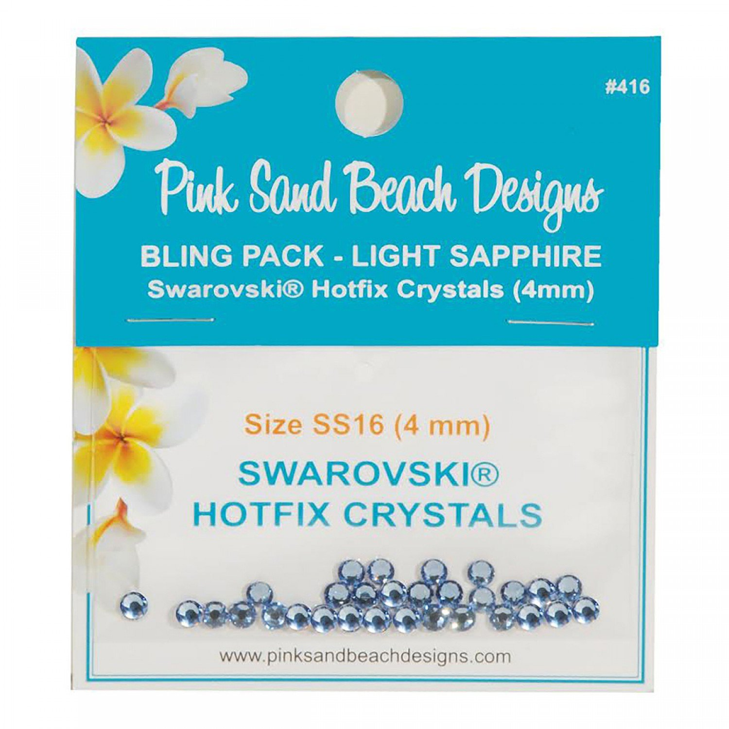 Bling Pack - Swarovski Hotfix Crystal 4mm - Light Sapphire