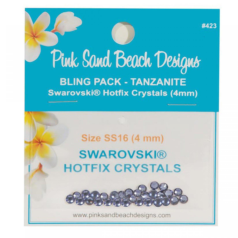 Bling Pack - Swarovski Hotfix Crystal 4mm - Tanzanite