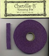 Chenille-It Blooming Bias 3/8 - Purple