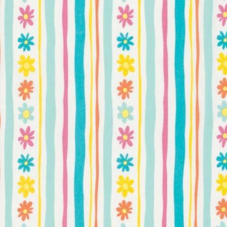 Free Spirit - Daisy Stripe PWDW137-AQUA