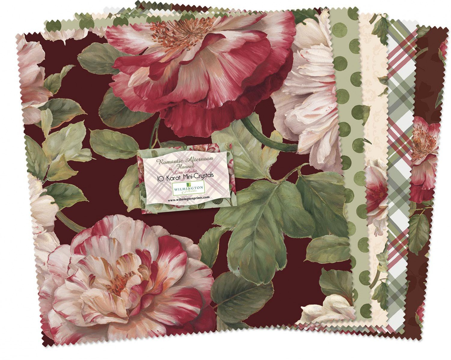 Wilmington 10in Squares Romantic Afternoon Flannel 24pcs/bundle