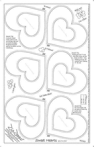 Sweet Hearts Printed Interfacing PANEL