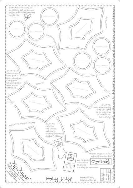 Holly Jolly Printed Interfacing PANEL