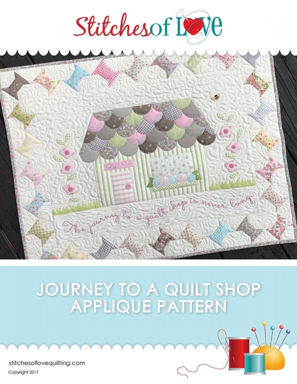 The Journey To A Quilt Shop Applique Pattern