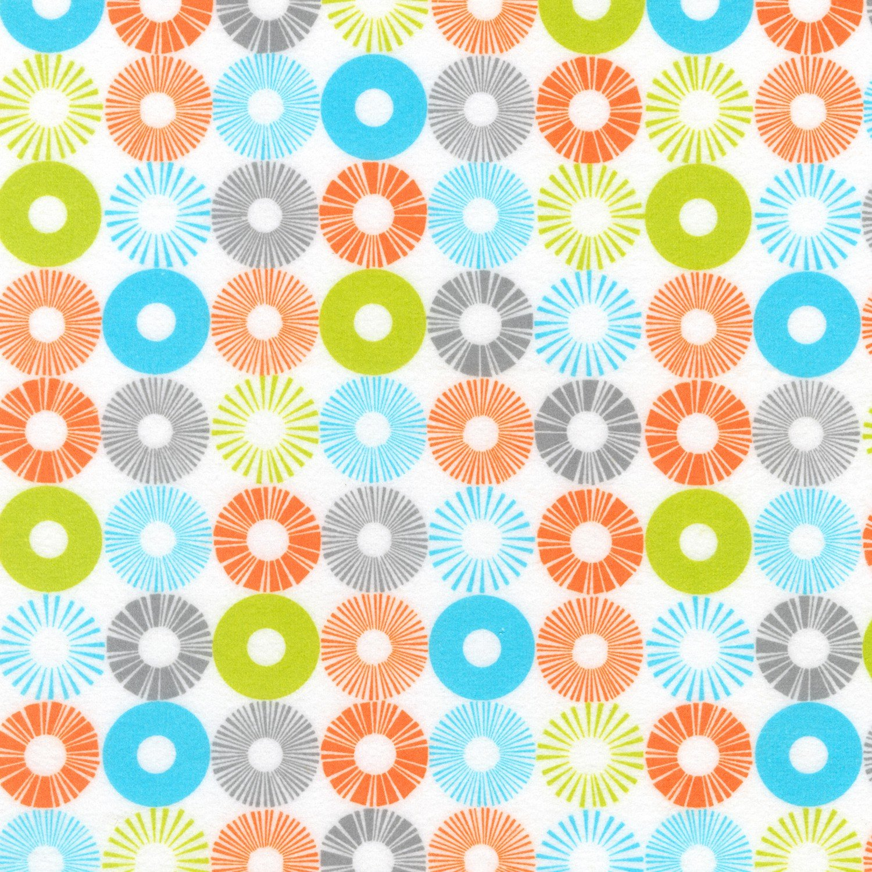 RK - Cozy Cotton SRKF-13769-237 Bermuda Circles Flannel