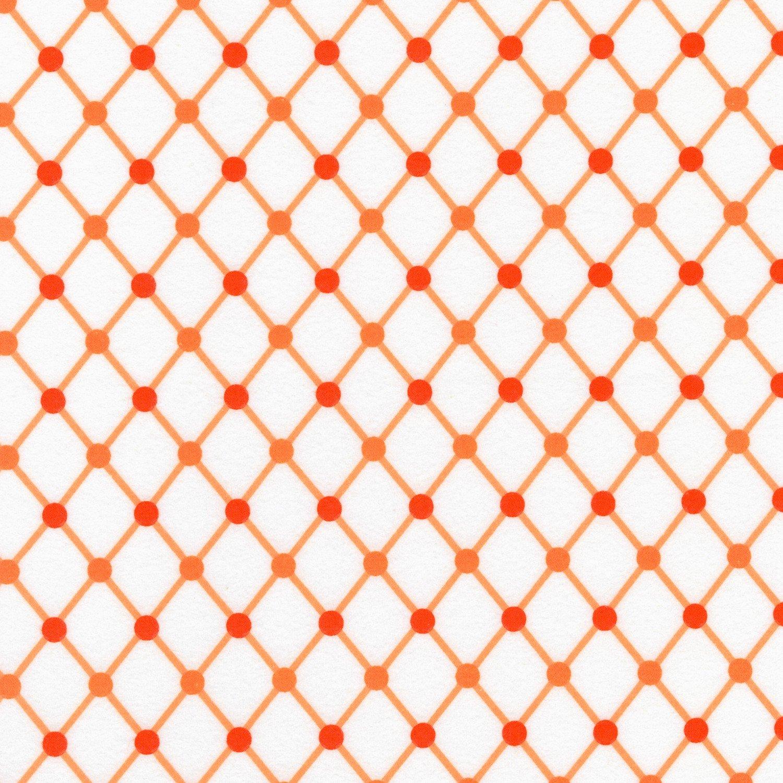 RK - Cozy Cotton SRKF-16229-8 Orange Diamonds Flannel
