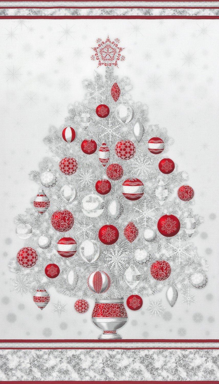 Winter's Grandeur Winter Christmas Tree PANEL