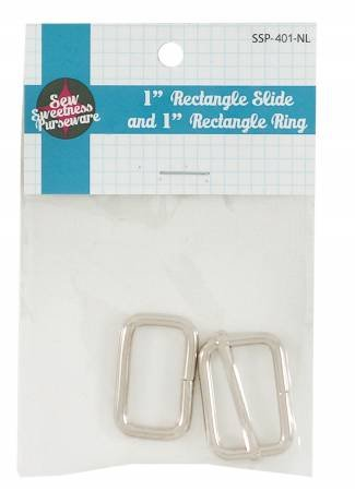 1in Rectangle Slider & 1in Rectangle Ring