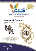 Floriani - Steampunk Couture; Embroidery Design Collections CD