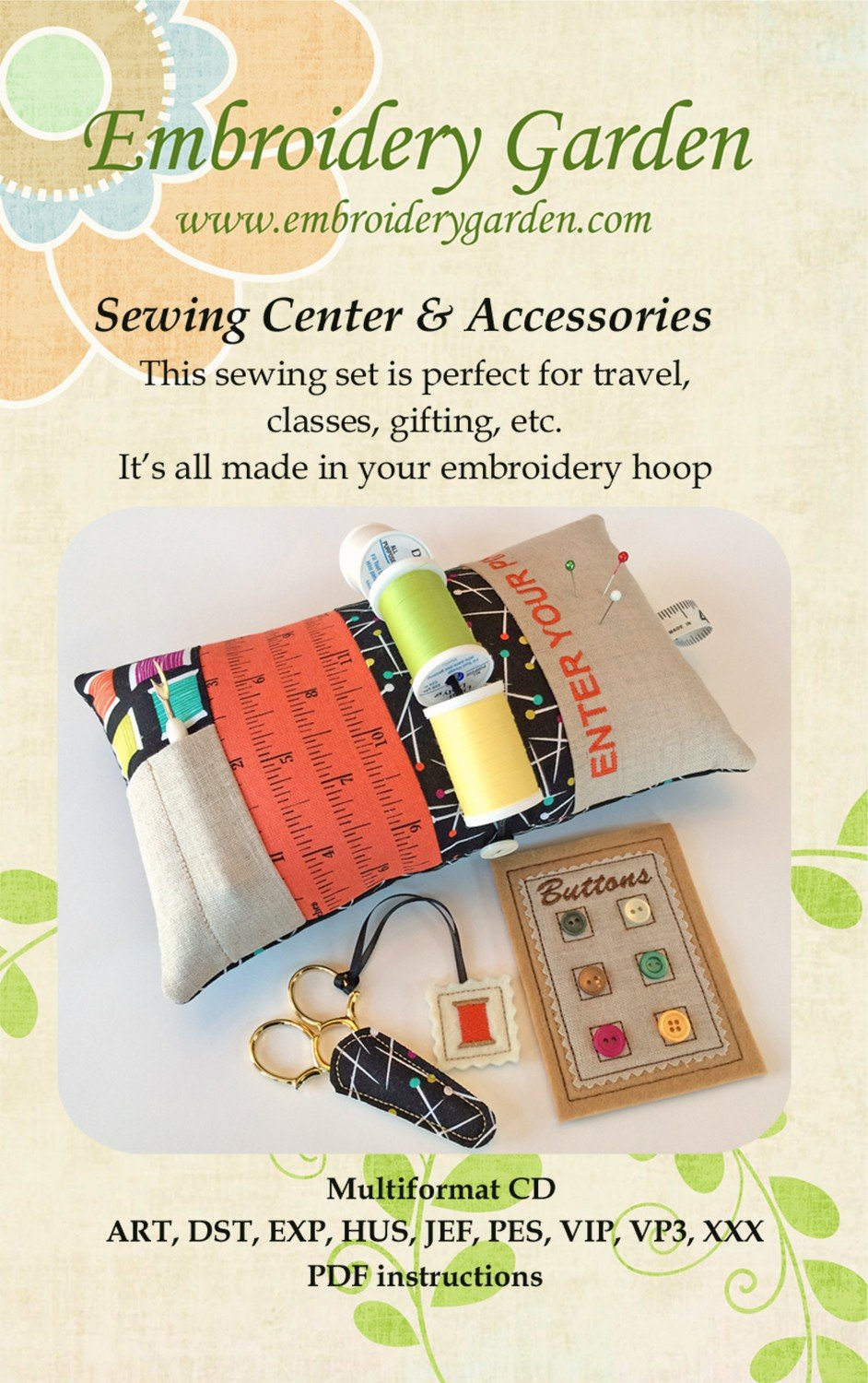 Sewing Center & Accessories Machine Embroidery - CD
