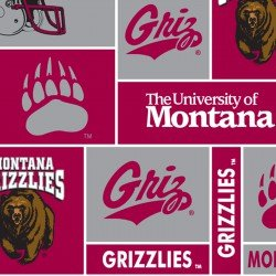 College Fleece - Montana Grizzlies Patch Print